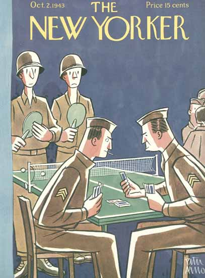 Peter Arno The New Yorker 1943_10_02 Copyright | The New Yorker Graphic Art Covers 1925-1945