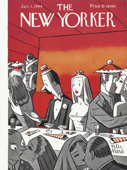 Peter Arno The New Yorker 1944_01_01 Copyright | The New Yorker Graphic Art Covers 1925-1945
