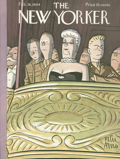Peter Arno The New Yorker 1944_02_26 Copyright   The New Yorker Graphic Art Covers 1925-1945