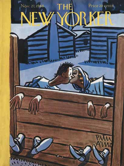 Peter Arno The New Yorker 1948_11_27 Copyright | The New Yorker Graphic Art Covers 1946-1970