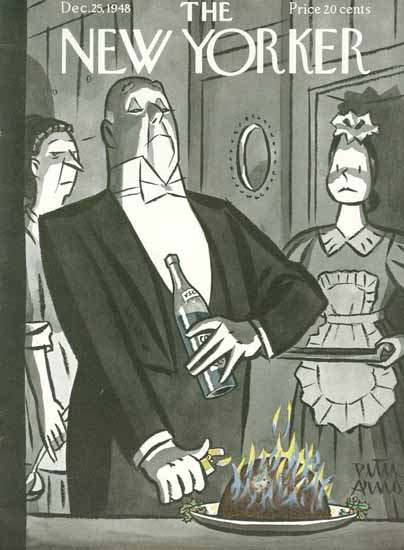Peter Arno The New Yorker 1948_12_25 Copyright | The New Yorker Graphic Art Covers 1946-1970