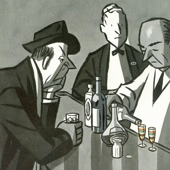 Peter Arno The New Yorker 1950_03_11 Copyright crop | Best of Vintage Cover Art 1900-1970