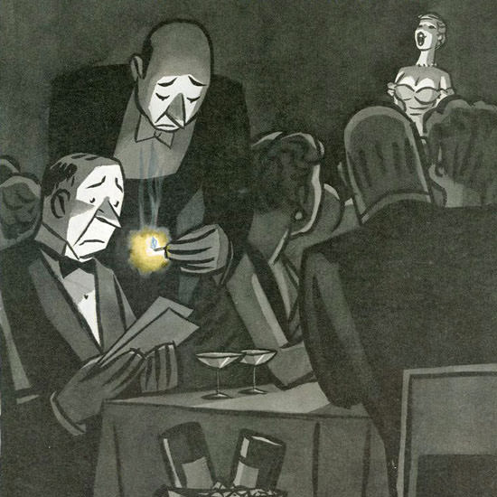 Peter Arno The New Yorker 1951_03_17 Copyright crop | Best of Vintage Cover Art 1900-1970