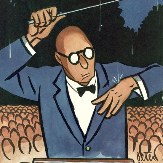 Peter Arno The New Yorker 1952_07_12 Copyright crop | Best of Vintage Cover Art 1900-1970