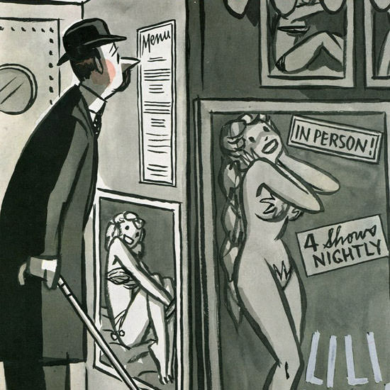 Peter Arno The New Yorker 1954_01_09 Copyright crop | Best of Vintage Cover Art 1900-1970