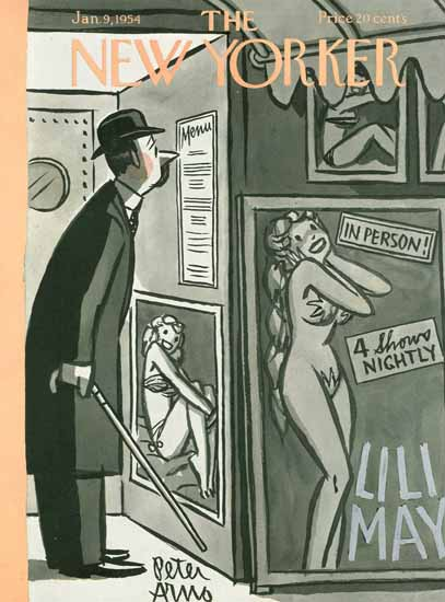 Peter Arno The New Yorker 1954_01_09 Copyright | The New Yorker Graphic Art Covers 1946-1970
