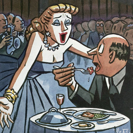 Peter Arno The New Yorker 1954_06_05 Copyright crop | Best of Vintage Cover Art 1900-1970