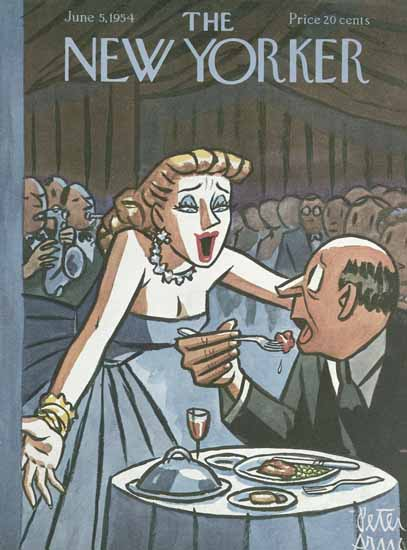 Peter Arno The New Yorker 1954_06_05 Copyright | The New Yorker Graphic Art Covers 1946-1970