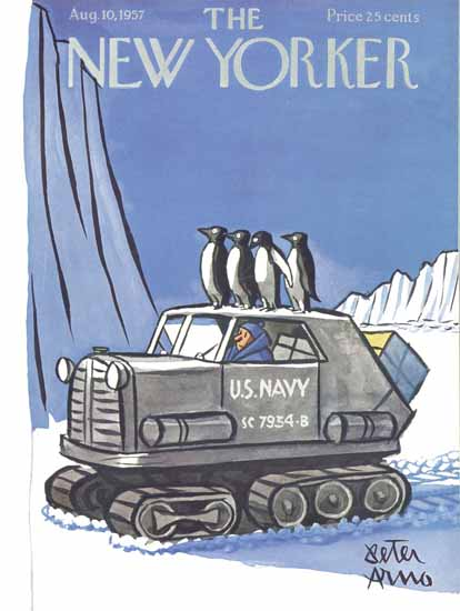 Peter Arno The New Yorker 1957_08_10 Copyright | The New Yorker Graphic Art Covers 1946-1970