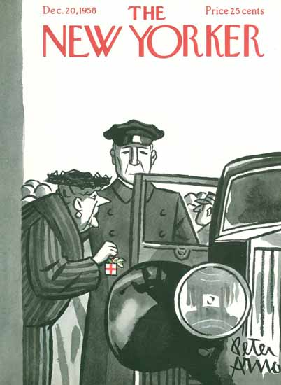 Peter Arno The New Yorker 1958_12_20 Copyright | The New Yorker Graphic Art Covers 1946-1970