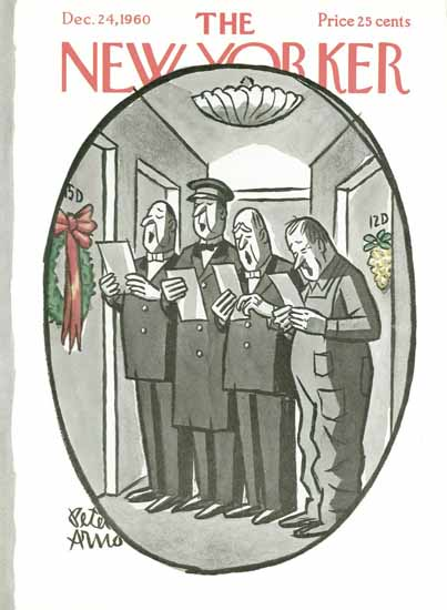 Peter Arno The New Yorker 1960_12_24 Copyright | The New Yorker Graphic Art Covers 1946-1970