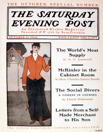 Peter Fountain Saturday Evening Post Cover 1902_10_11 | The Saturday Evening Post Graphic Art Covers 1892-1930