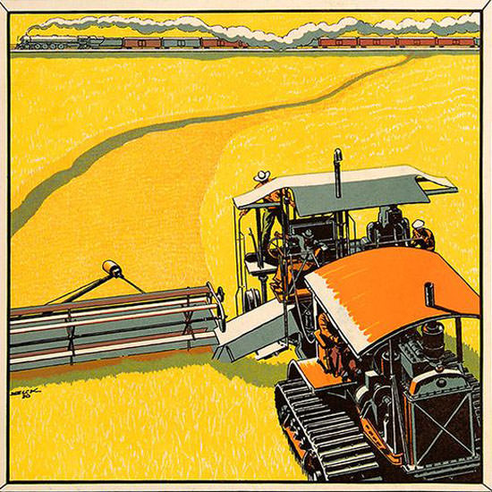 Peter Helck Fortune Magazine September 1930 Copyright crop | Best of 1930s Ad and Cover Art
