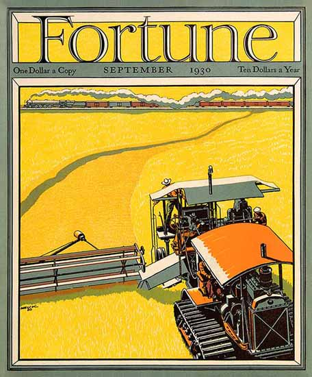 Peter Helck Fortune Magazine September 1930 Copyright | Fortune Magazine Graphic Art Covers 1930-1959