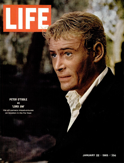 Peter O Toole as Lord Jim Far East 22 Jan 1965 Copyright Life Magazine | Life Magazine Color Photo Covers 1937-1970
