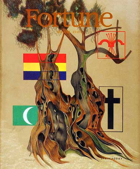Peter Piening Fortune Magazine March 1945 Copyright | Fortune Magazine Graphic Art Covers 1930-1959