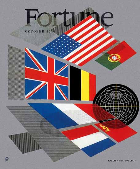 Peter Piening Fortune Magazine October 1944 Copyright | Fortune Magazine Graphic Art Covers 1930-1959