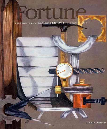 Peter Piening Fortune Magazine September 1944 Copyright | Fortune Magazine Graphic Art Covers 1930-1959