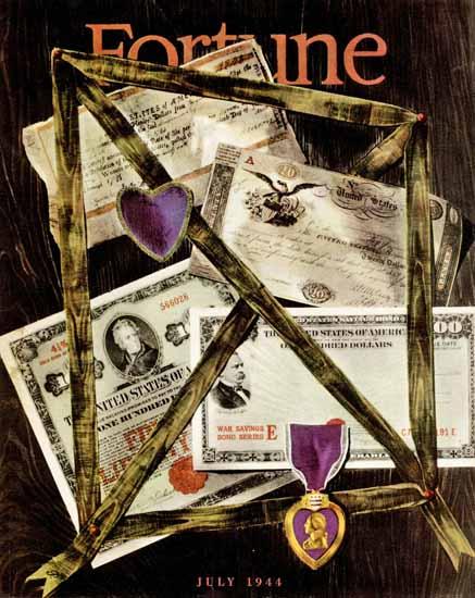 Peter Piennig Fortune Magazine July 1944 Copyright | Fortune Magazine Graphic Art Covers 1930-1959