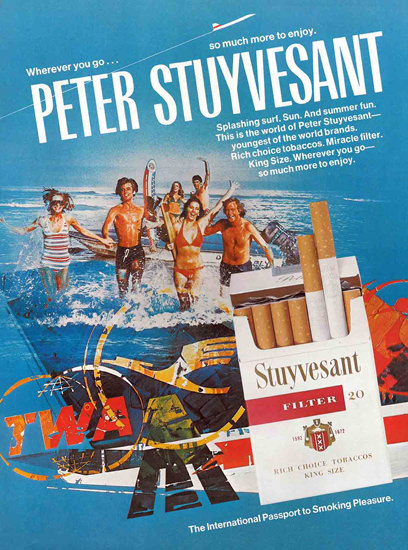 Peter Stuyvesant Wherever You Go Lufthansa | Vintage Ad and Cover Art 1891-1970