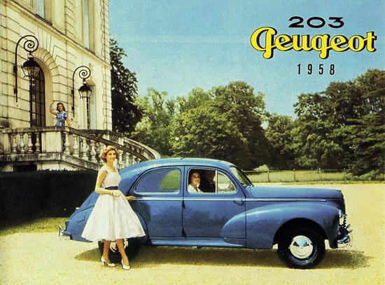 Peugeot 203 Berline 1958 Blue | Vintage Cars 1891-1970