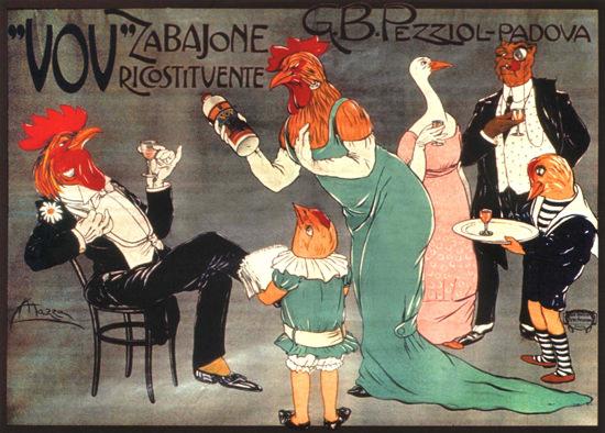 Pezziol VOV Zabajone Ricostituente Padova Italia | Vintage Ad and Cover Art 1891-1970