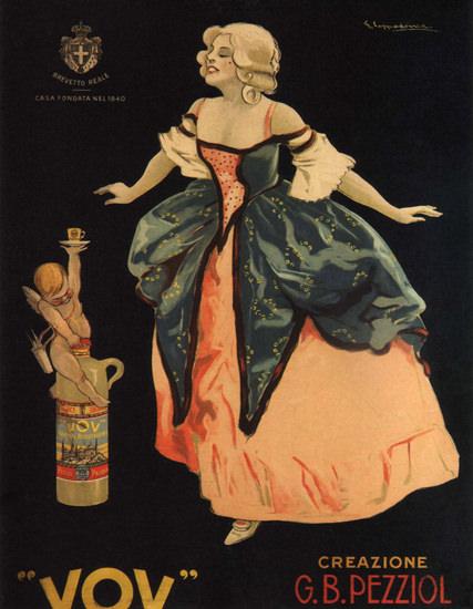 Pezziol Zabajone Padova Vov Italy Itali | Sex Appeal Vintage Ads and Covers 1891-1970