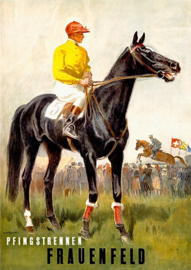 Pfingstrennen Frauenfeld Horse Race Switzerland | Sex Appeal Vintage Ads and Covers 1891-1970