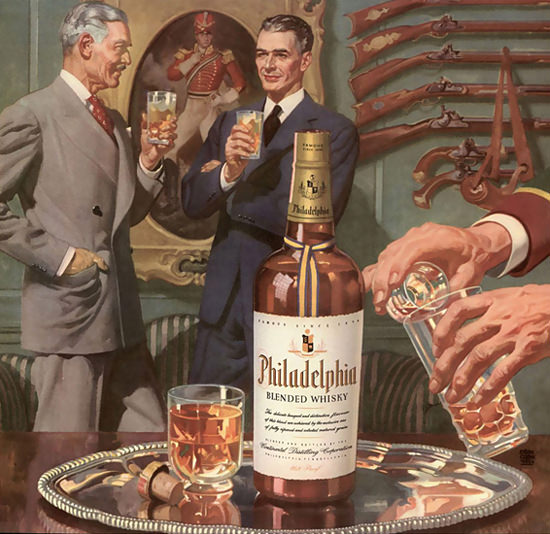 Philadelphia Blended Whisky Collection Of Arms | Sex Appeal Vintage Ads and Covers 1891-1970