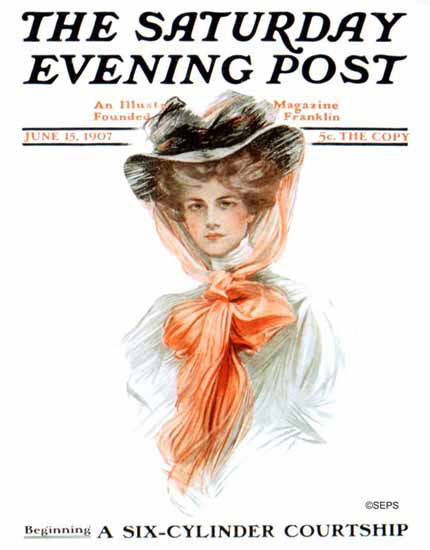 Philip Boileau Cover Artist Saturday Evening Post 1907_06_15 | The Saturday Evening Post Graphic Art Covers 1892-1930