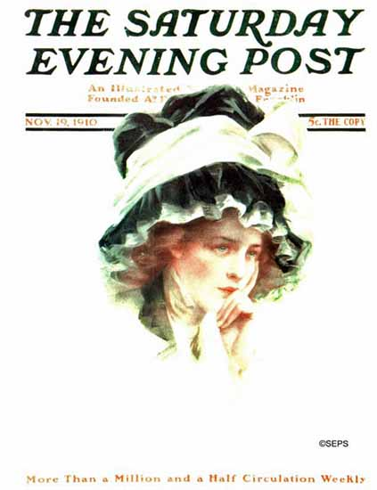 Philip Boileau Cover Artist Saturday Evening Post 1910_11_19 | The Saturday Evening Post Graphic Art Covers 1892-1930