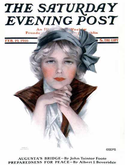 Philip Boileau Cover Artist Saturday Evening Post 1916_02_19   The Saturday Evening Post Graphic Art Covers 1892-1930