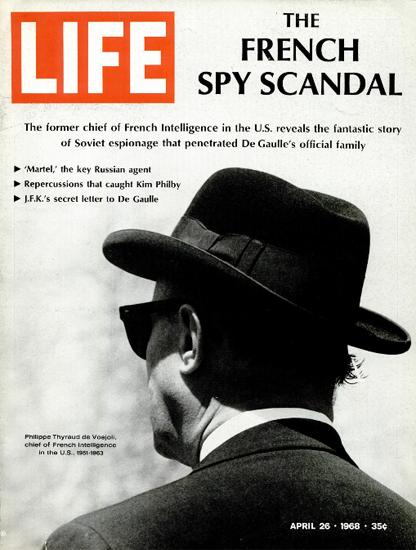 Philippe Thyraud de Vosjoli Martel 26 Apr 1968 Copyright Life Magazine | Life Magazine BW Photo Covers 1936-1970