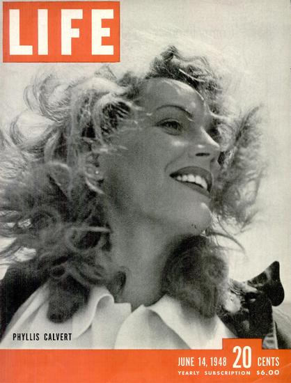 Phillis Calvert 14 Jun 1948 Copyright Life Magazine   Life Magazine BW Photo Covers 1936-1970