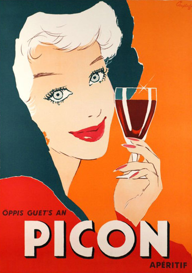 Picon Aperitif Oeppis Guets 1959   Sex Appeal Vintage Ads and Covers 1891-1970