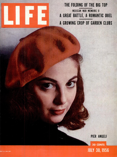 Pier Angeli 30 Jul 1956 Copyright Life Magazine | Life Magazine Color Photo Covers 1937-1970
