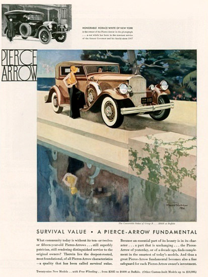 Pierce Arrow Automobile Survival Value | Vintage Cars 1891-1970