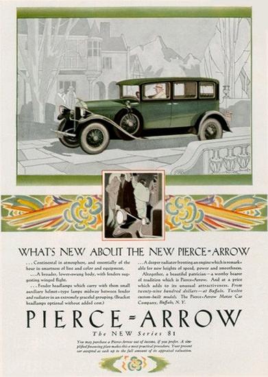 Pierce Arrow Automobile Whats New | Vintage Cars 1891-1970