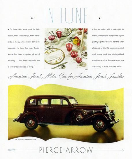 Pierce Arrow Enclosed Drive Limousine 1935 | Vintage Cars 1891-1970