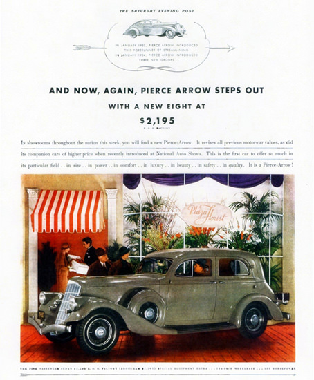 Pierce Arrow Five P Sedan 1934 | Vintage Cars 1891-1970