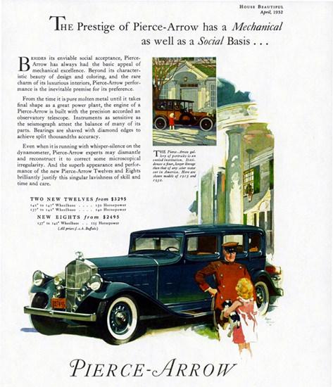 Pierce Arrow Twelve Sedan 1932 Prestige   Vintage Cars 1891-1970