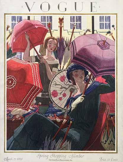 Pierre Brissaud Vogue Cover 1924-03-15 Copyright | Vogue Magazine Graphic Art Covers 1902-1958