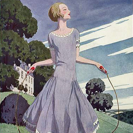 Pierre Brissaud Vogue Cover 1925-05-15 Copyright crop | Best of 1920s Ad and Cover Art