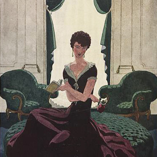 Pierre Brissaud Vogue Cover 1925-08-01 Copyright crop | Best of Vintage Cover Art 1900-1970