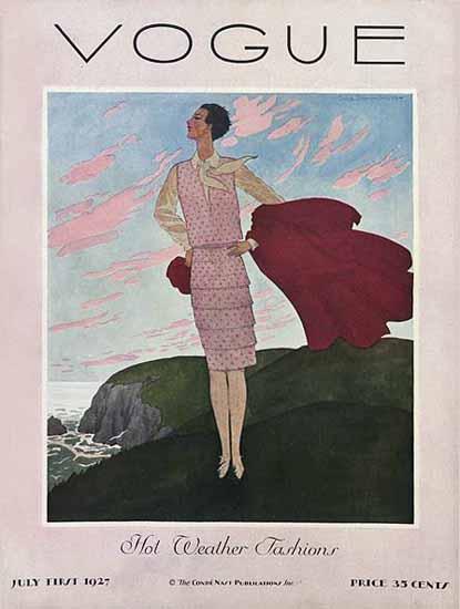 Pierre Brissaud Vogue Cover 1927-07-01 Copyright | Vogue Magazine Graphic Art Covers 1902-1958