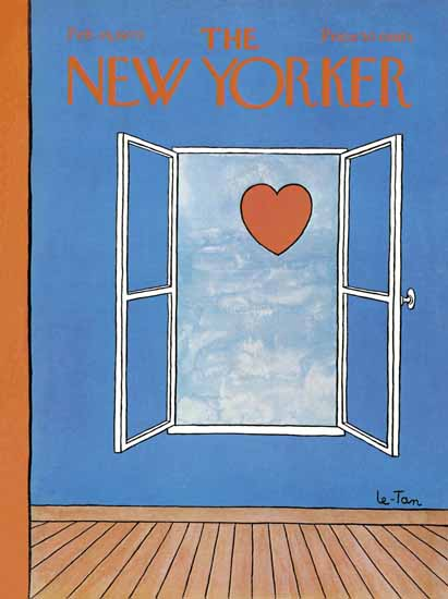 Pierre LeTan The New Yorker 1970_02_14 Copyright | The New Yorker Graphic Art Covers 1946-1970