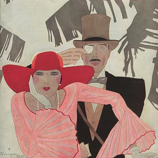 Pierre Mourgue Vogue Cover 1928-07-15 Copyright crop | Best of 1920s Ad and Cover Art