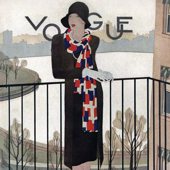 Pierre Mourgue Vogue Cover 1928-09-15 Copyright crop | Best of 1920s Ad and Cover Art