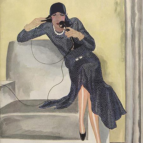 Pierre Mourgue Vogue Cover 1929-04-27 Copyright crop | Best of 1920s Ad and Cover Art