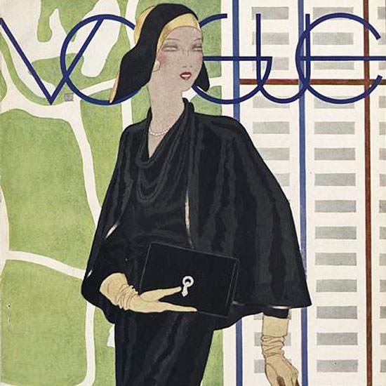 Pierre Mourgue Vogue Cover 1930-04-26 Copyright crop | Best of Vintage Cover Art 1900-1970